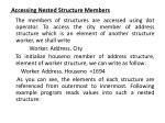 accessing nested structure members