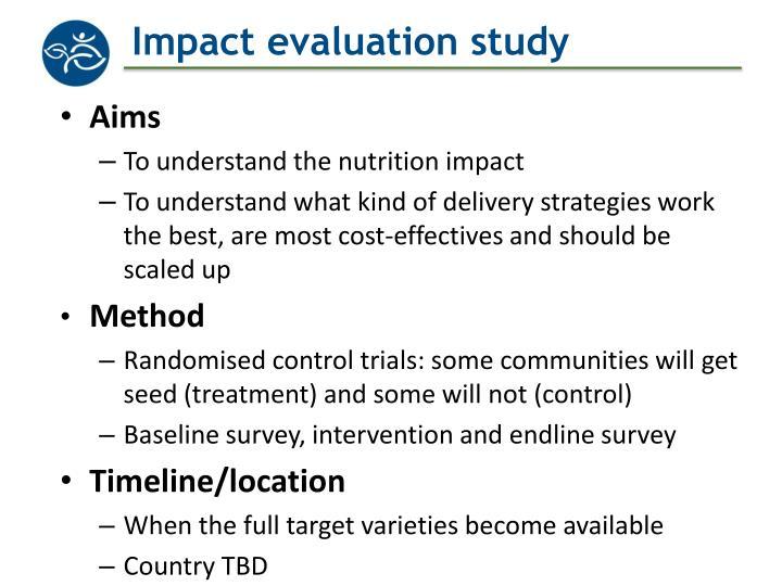 Impact evaluation study