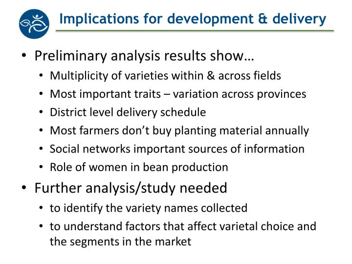 Implications for development & delivery