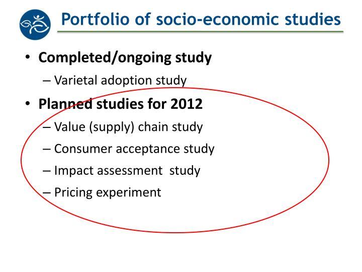 Portfolio of socio-economic studies