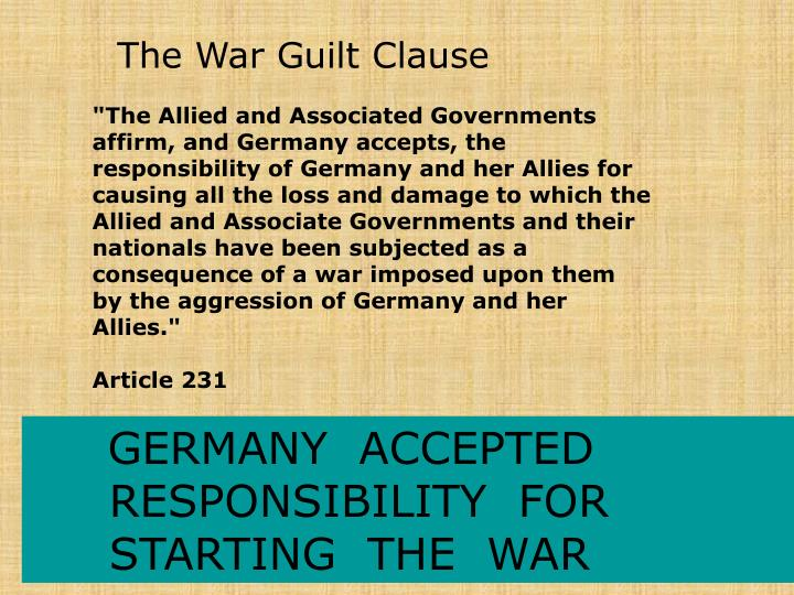 The War Guilt Clause