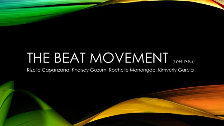 the beat movement 1944 1960s n.
