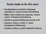 deals made so far this year