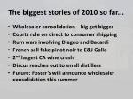 the biggest stories of 2010 so far