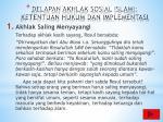 delapan akhlak sosial islami ketentuan hukum dan implementasi