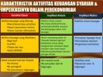 karakteristik aktifitas keuangan syariah implikasinya dalam perekonomian