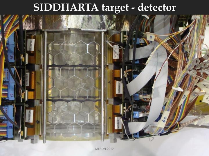 SIDDHARTA target - detector