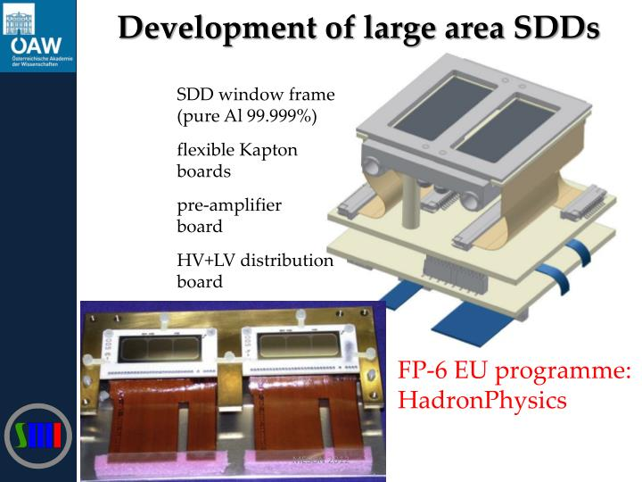 Development of large area SDDs