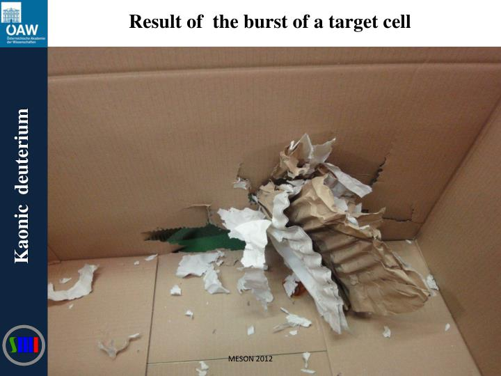 Result of  the burst of a target cell