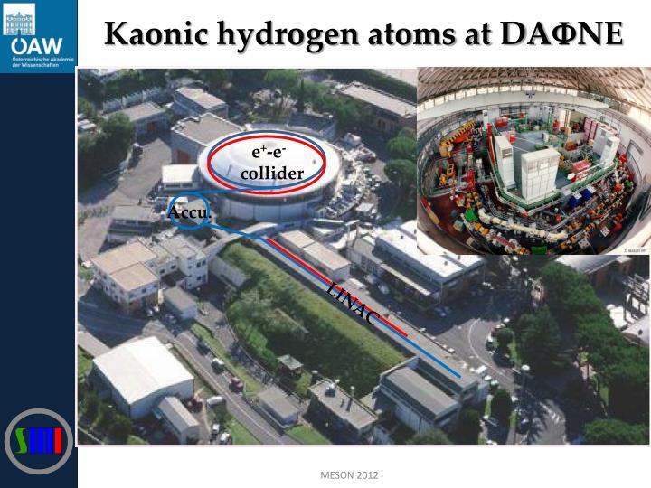 Kaonic hydrogen atoms at DA