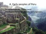 a early peoples of peru
