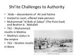 shi ite challenges to authority