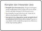 kompiler dan interpreter java