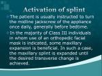 activation of splint