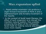 max expansion splint1