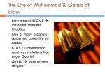 the life of muhammad gensis of islam
