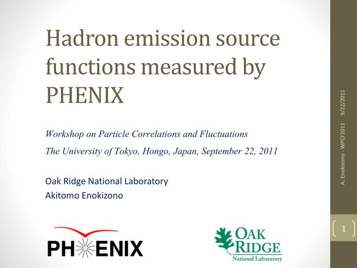 hadron emission source functions measured by phenix n.