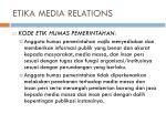 etika media relations