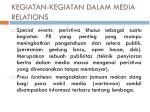 kegiatan kegiatan dalam media relations1