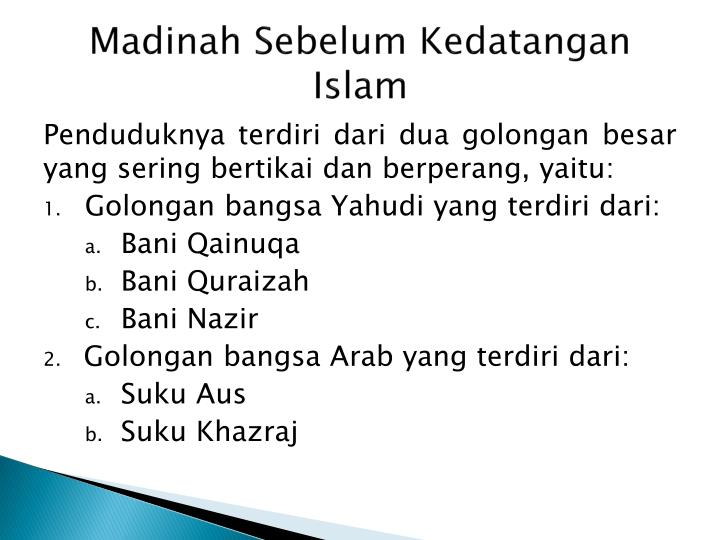 Madinah sebelum kedatangan islam