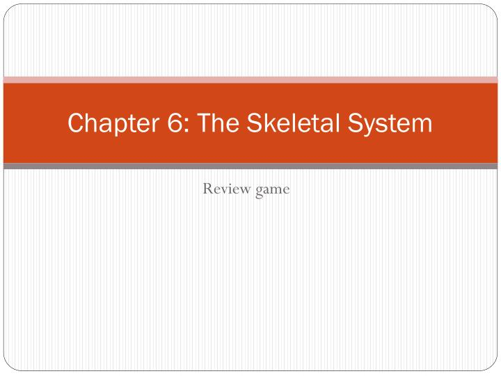 chapter 6 the skeletal system n.