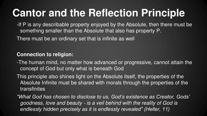 Cantor and the Reflection Principle