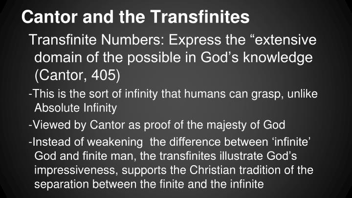 Cantor and the Transfinites