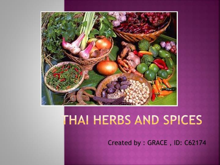 thai herbs and spices n.