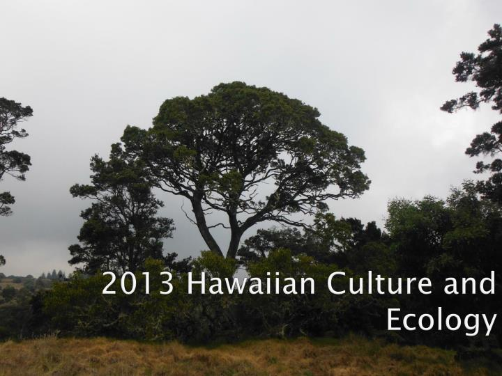 2013 hawaiian culture and ecology n.