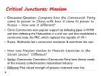 critical junctures maoism3