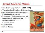 critical junctures maoism4