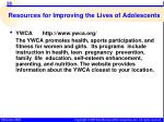 resources for improving the lives of adolescents2