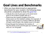 goal lines and benchmarks