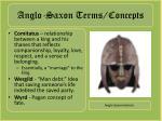 anglo saxon terms concepts