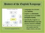 history of the english language1