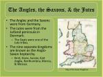 the angles the saxons the jutes