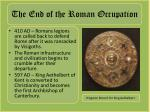 the end of the roman occupation