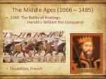 the middle ages 1066 1485