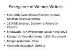 emergence of women writers