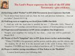 the lord s p rayer expresses the faith of the ot old testament give evidence