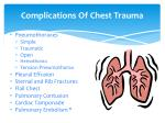 complications of chest trauma