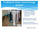 traditional water seal drainage system