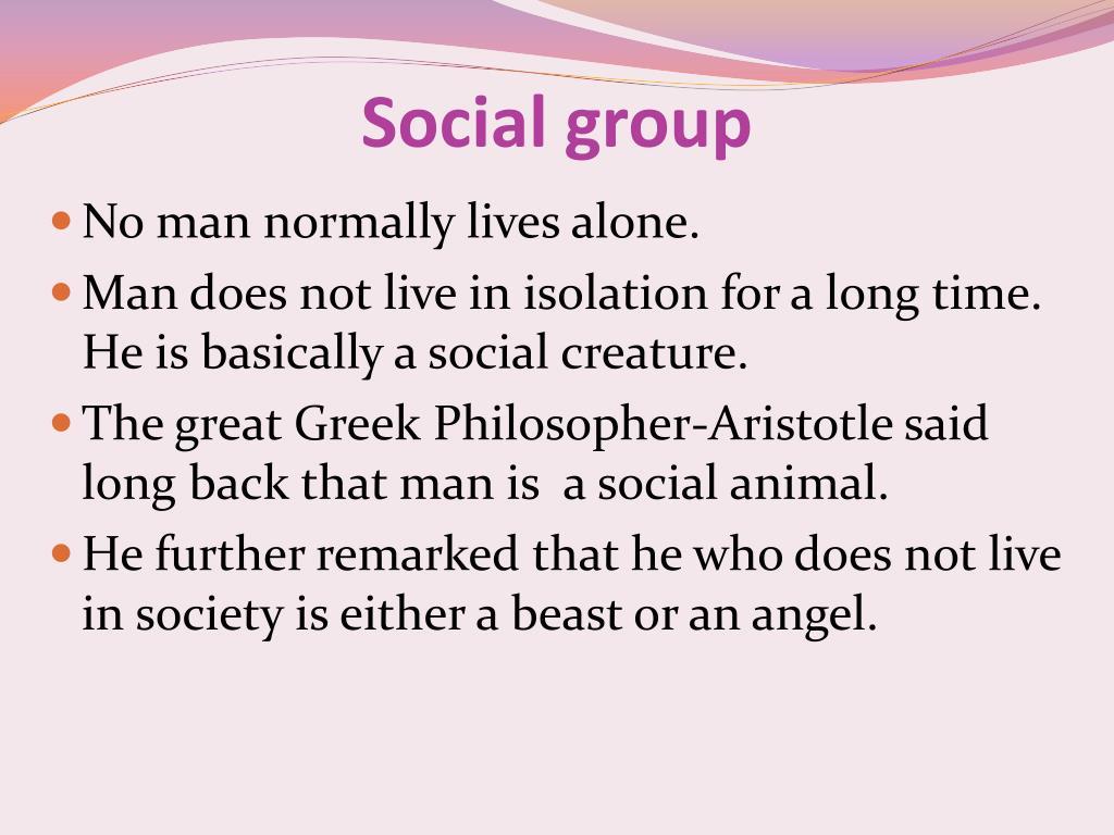 is man a social animal