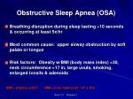 obstructive sleep apnea osa