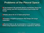 problems of the p leural s pace