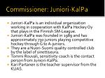commissioner juniori kalpa