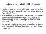 sejarah jurnalistik di indonesia