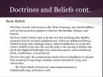 doctrines and beliefs cont