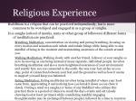 religious experience1