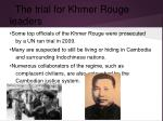 the trial for khmer rouge leaders